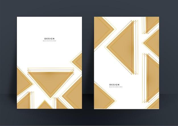 Abstrait or simple pour la conception de la couverture