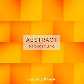 Abstrait orange avec des carrés
