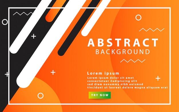 Abstrait orange moderne. conception de formes géométriques avec une décoration circulaire et linéaire