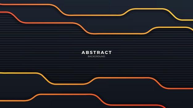 Abstrait orange et noir avec une forme moderne