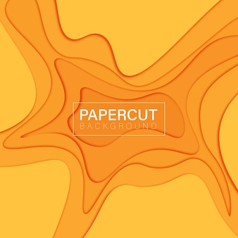Abstrait orange papercut. illustration vectorielle.