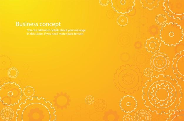 Abstrait orange roue de roues dentées