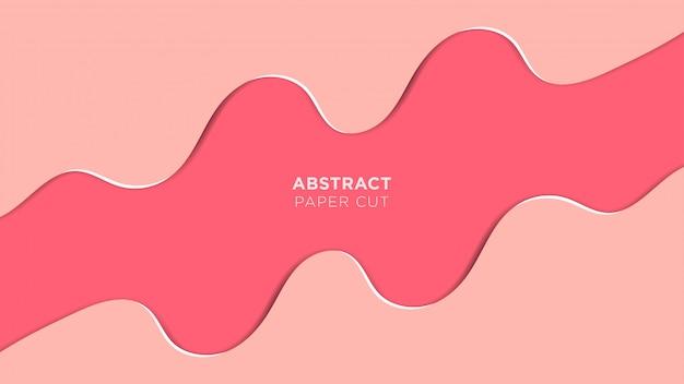 Abstrait papercut design qui se chevauchent