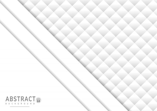 Abstrait de papier blanc avec style 3d