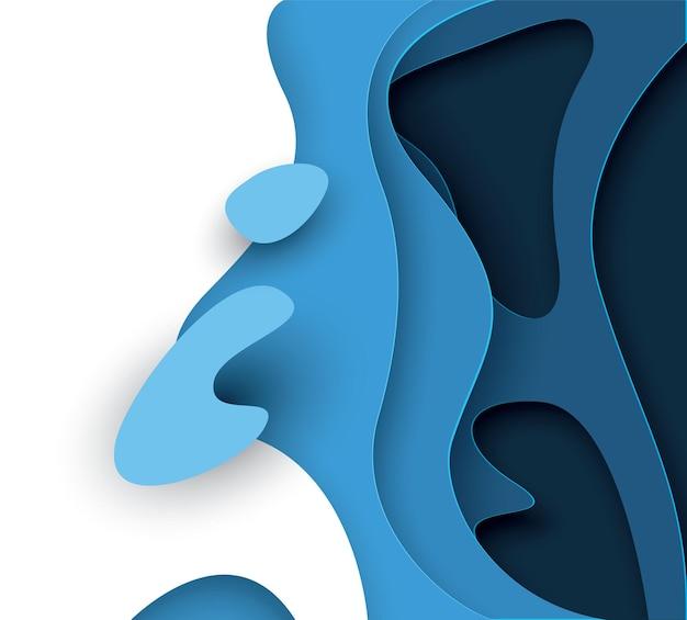 Abstrait avec papier découpé. disposition de conception vectorielle pour les présentations commerciales, les dépliants, les affiches et les invitations.