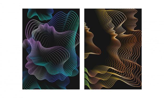 Abstrait de particules de mouvement vague numérique de style différent numérique