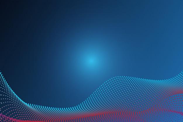 Abstrait de particules d'onde de ligne