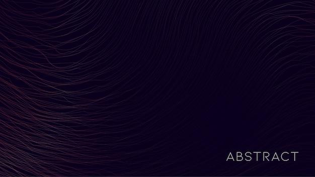 Abstrait de particules ondulées