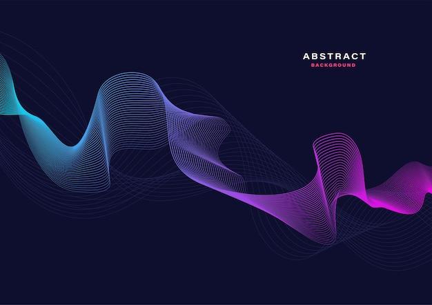 Abstrait avec des particules qui coule