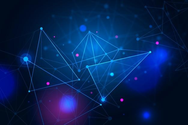 Abstrait de particules de technologie réaliste