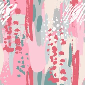 Abstrait pastel tendance artistique sans couture avec des traits