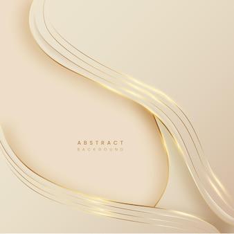 Abstrait de pastelton avec golden line