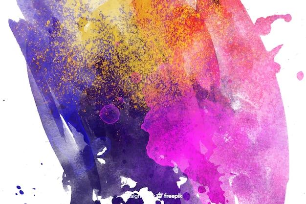 Abstrait peint avec des couleurs simples