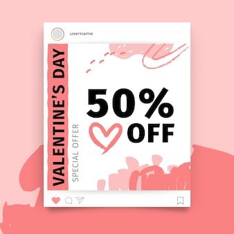 Abstrait peint monocolor valentine's day instagram post