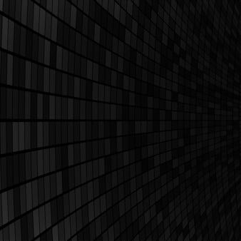 Abstrait de petits carrés ou pixels en couleurs noir et gris