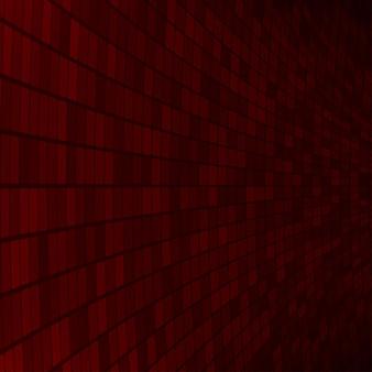 Abstrait de petits carrés ou pixels dans des couleurs rouge foncé