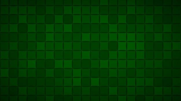 Abstrait de petits carrés ou pixels dans des couleurs vert foncé