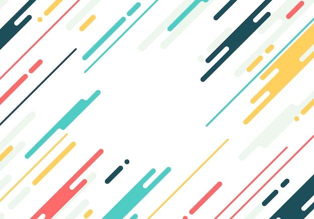 Abstrait plat arrondi. illustration vectorielle.