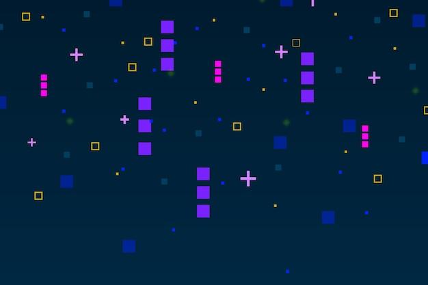 Abstrait de pluie pixel