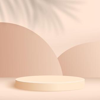 Abstrait avec des podiums 3d géométriques roses. illustration.