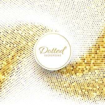 Abstrait en pointillé fond doré