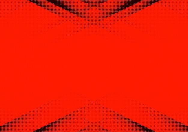 Abstrait en pointillé rouge et noir
