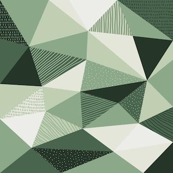 Abstrait polygonale avec la couleur verte