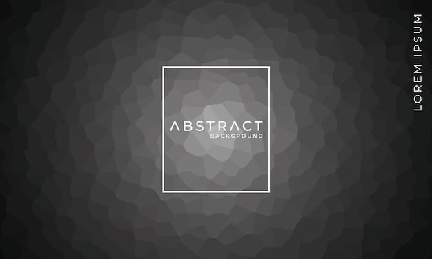 Abstrait polygonale géométrique gris foncé