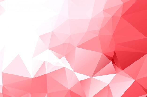 Abstrait polygonale géométrique rouge