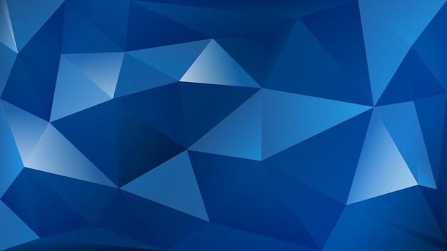 Abstrait polygonale de nombreux triangles aux couleurs bleues