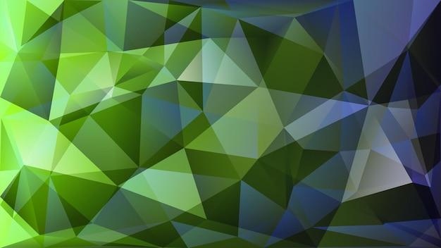 Abstrait polygonale de nombreux triangles aux couleurs vertes et grises