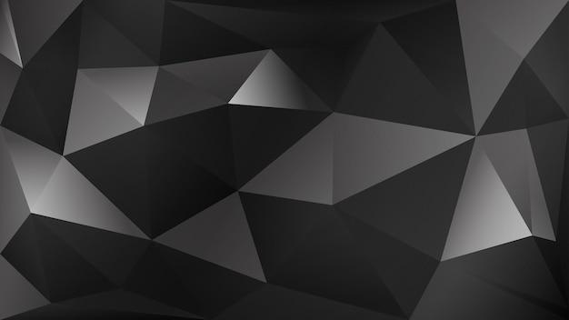 Abstrait polygonale de nombreux triangles en couleurs noir et gris