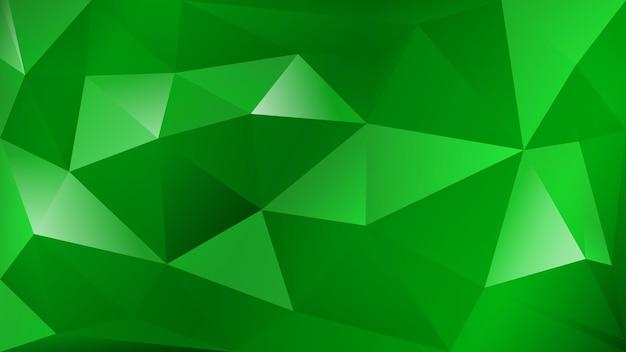 Abstrait polygonale de nombreux triangles en couleurs vertes