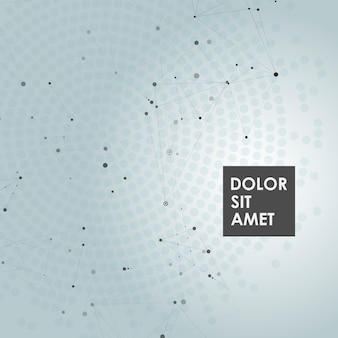 Abstrait polygonale avec des points et des lignes de connexion
