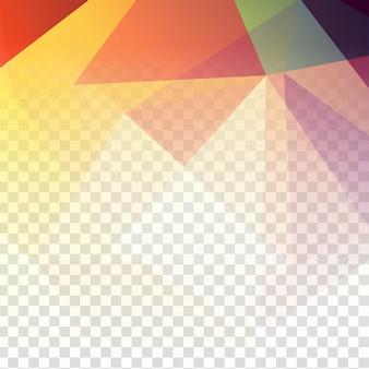 Abstrait polygonale transparent