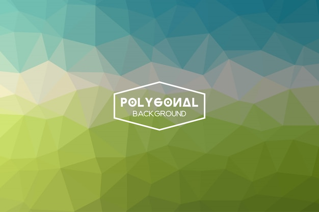 Abstrait polygonale