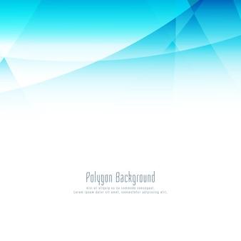 Abstrait de polygone bleu élégant