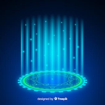 Abstrait avec un portail holographique