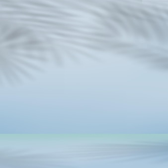 Abstrait pour présentation avec ombre de feuilles. illustration vectorielle