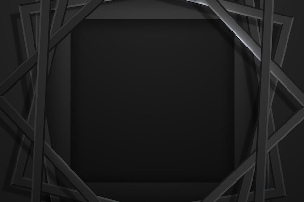 Abstrait premium noir minimaliste