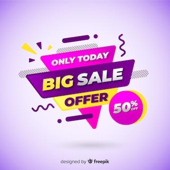 Abstrait promotion promotion vente