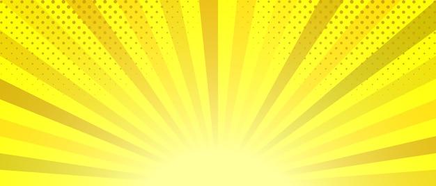 Abstrait rayé jaune.
