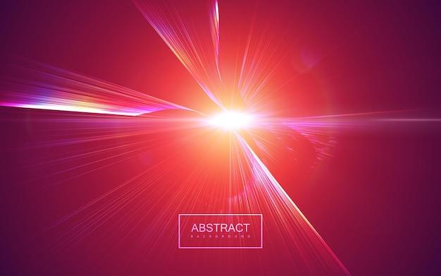 Abstrait de rayons lumineux éclatés