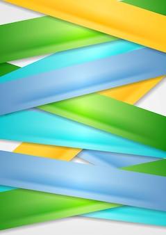 Abstrait de rayures colorées. conception de vecteur