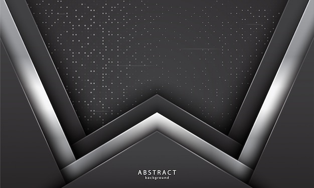 Abstrait réaliste avec couleur noir et argent