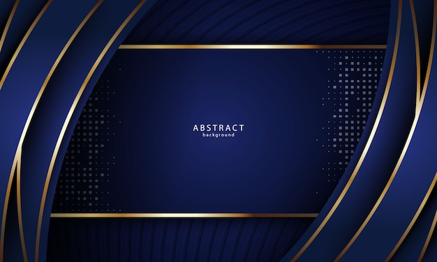 Abstrait réaliste avec couleur or et bleu
