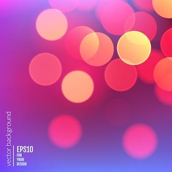 Abstrait réaliste vector avec lumières floues bokeh défocalisé