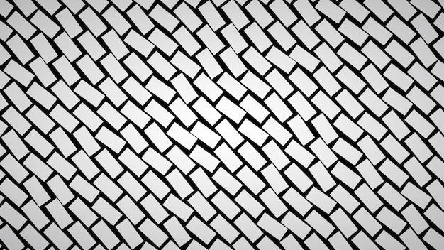 Abstrait de rectangles disposés en diagonale dans des couleurs grises