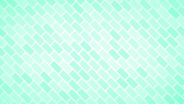Abstrait de rectangles disposés en diagonale dans des couleurs turquoises