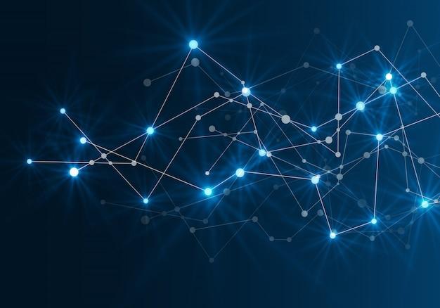 Abstrait réseau futuriste